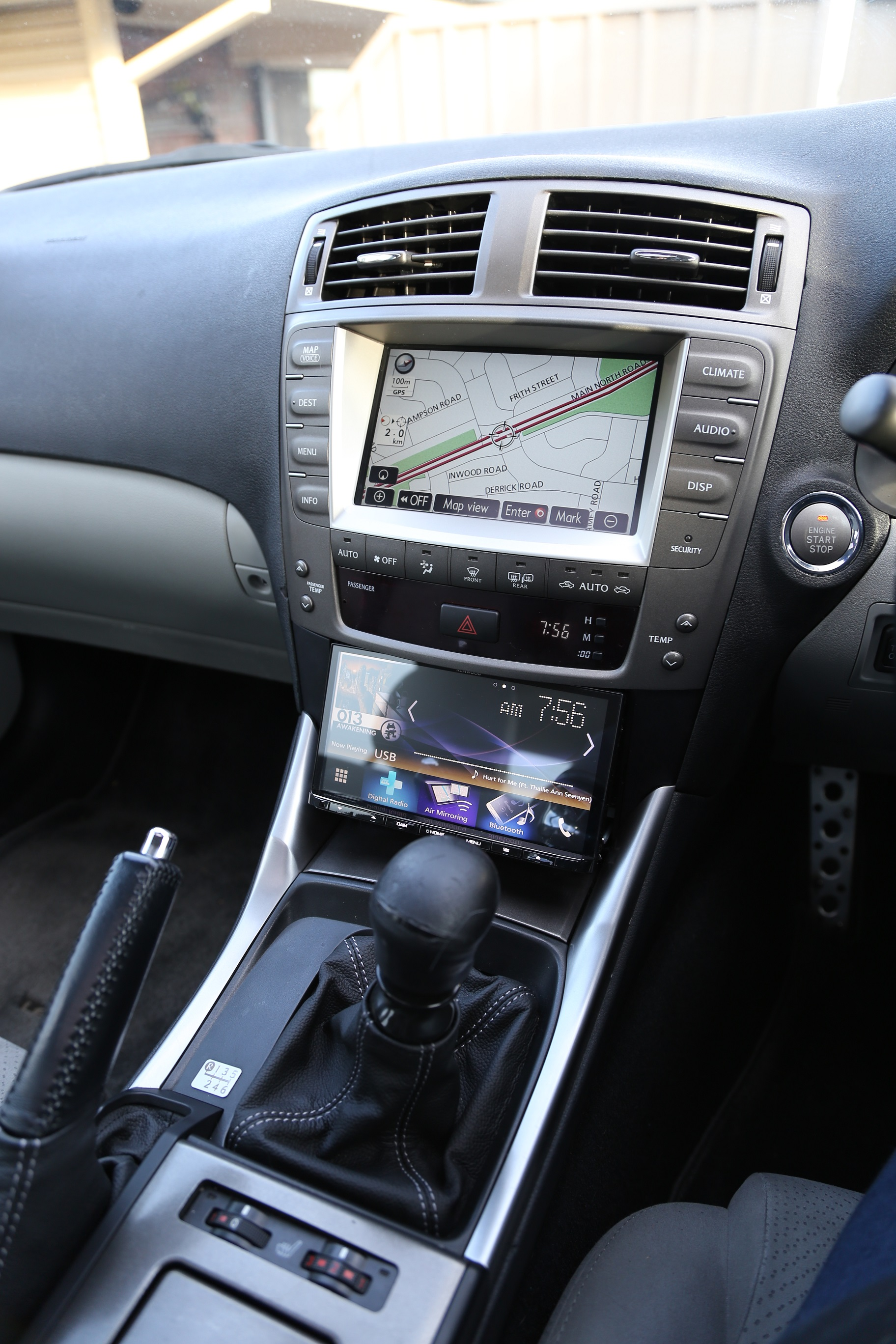 IS and IS-F stereo upgrade with Android/Carplay Head Unit and